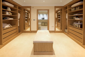 luxury walk in wardrobe in Perth