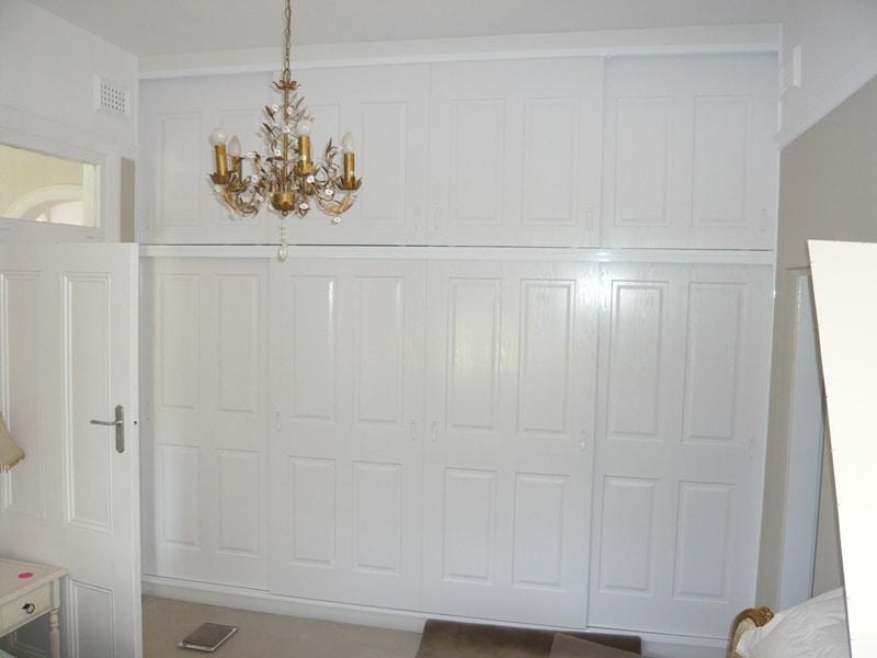 2 Tier, vinyl wrapped 4 panel doors