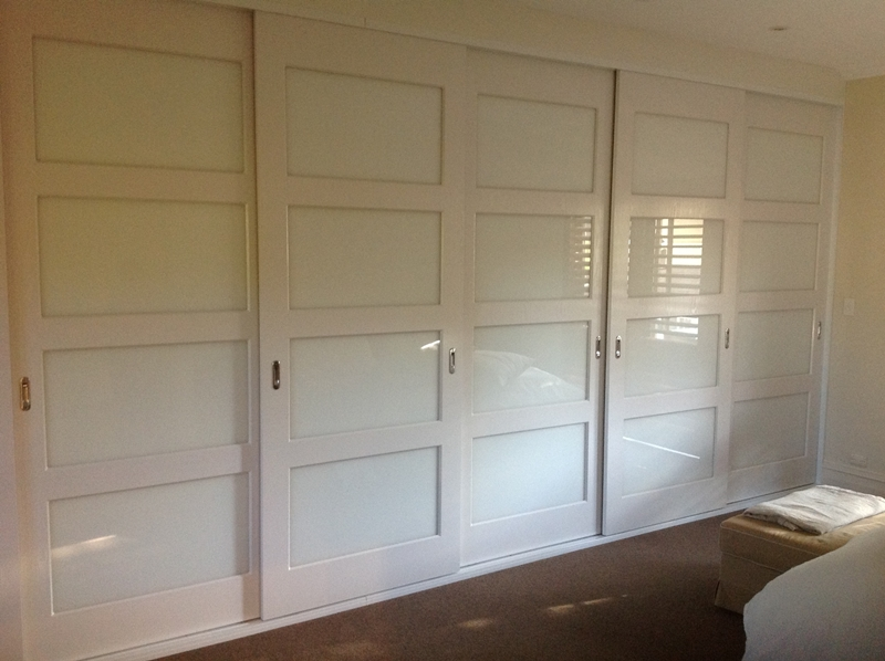 Vinyl wrapped, low iron white glass insert doors
