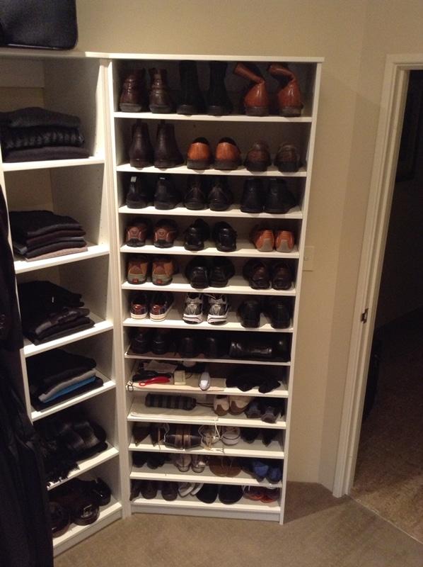 Adjustable shelving and shoe shelf unit