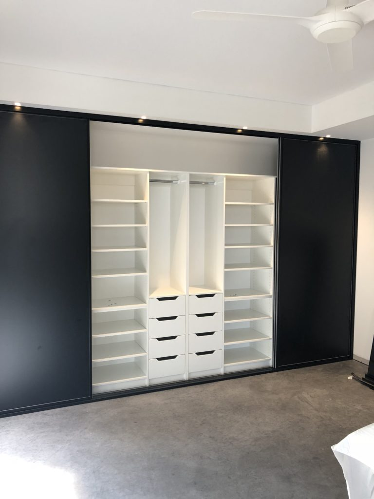 Built in wardrobe internal storage
