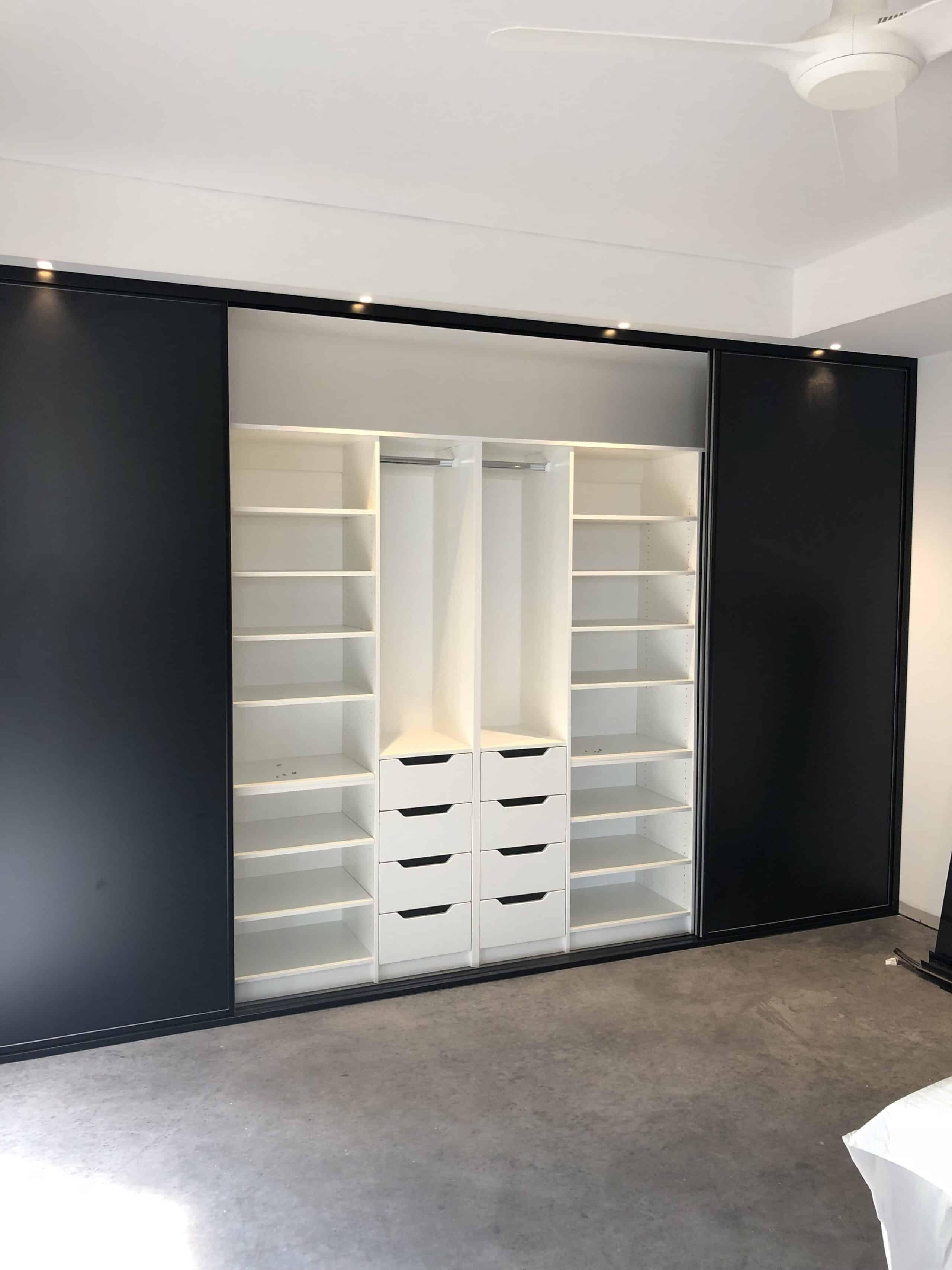 Built in wardrobe internal storage