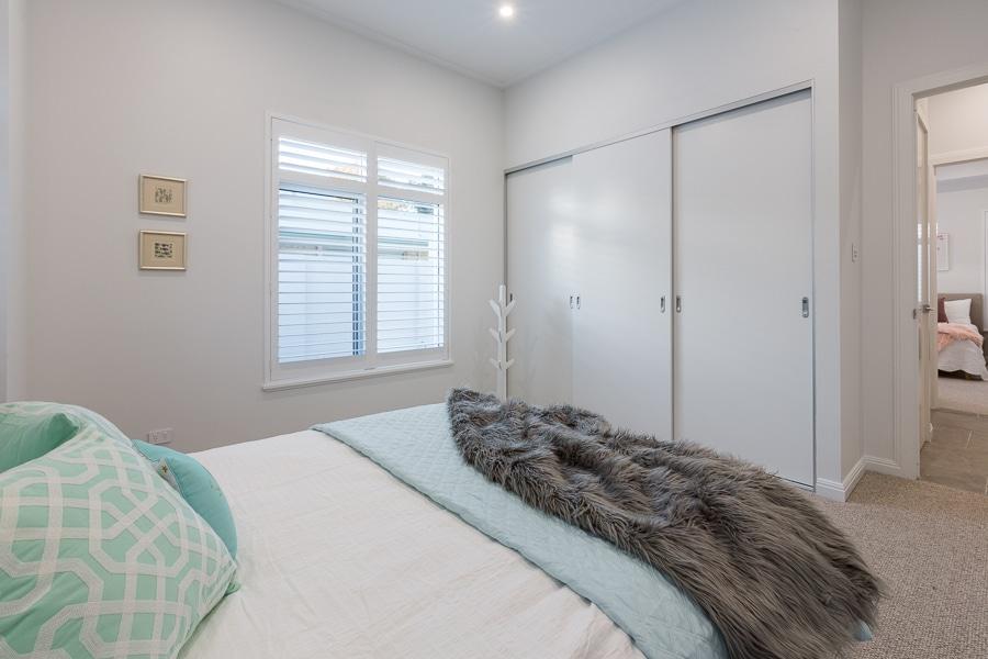 White sliding bedroom doors