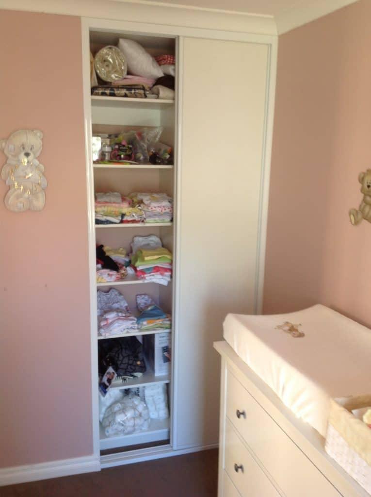 Bedroom storage for baby's room