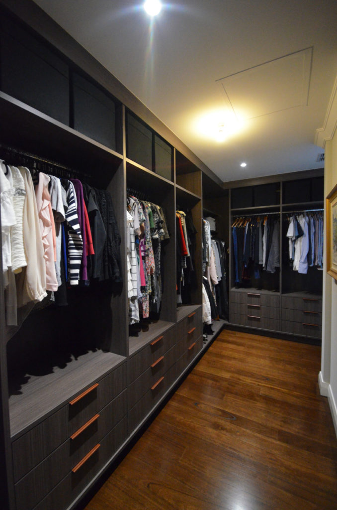 Walk in wardrobe in colour board