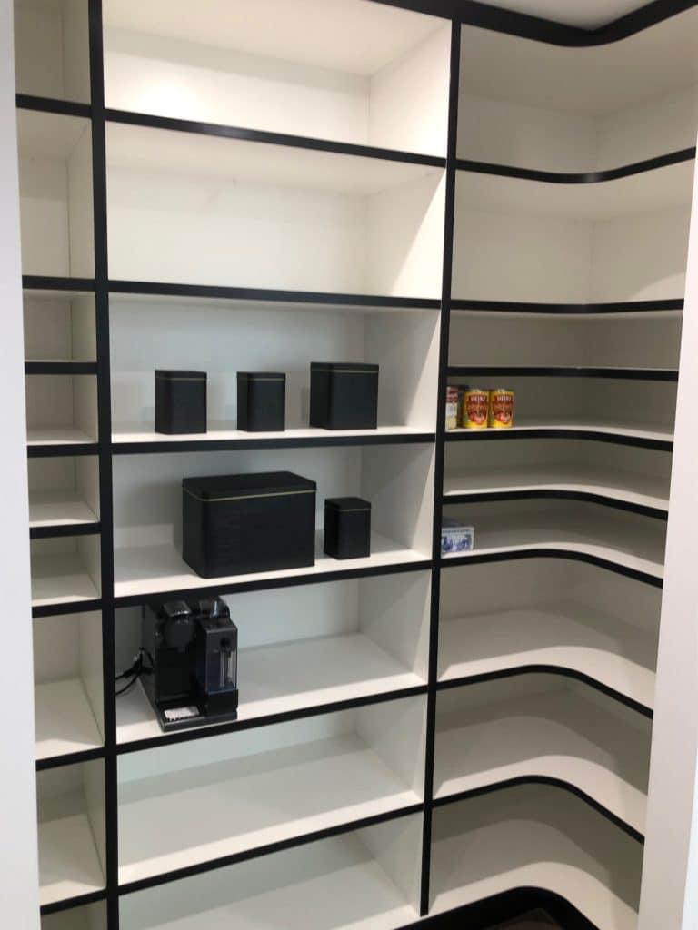 Monochrome pantry