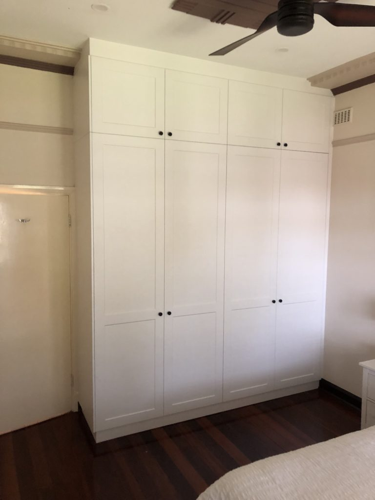 Two tier hinged door wardrobe