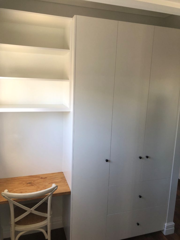 Wardrobe with desk