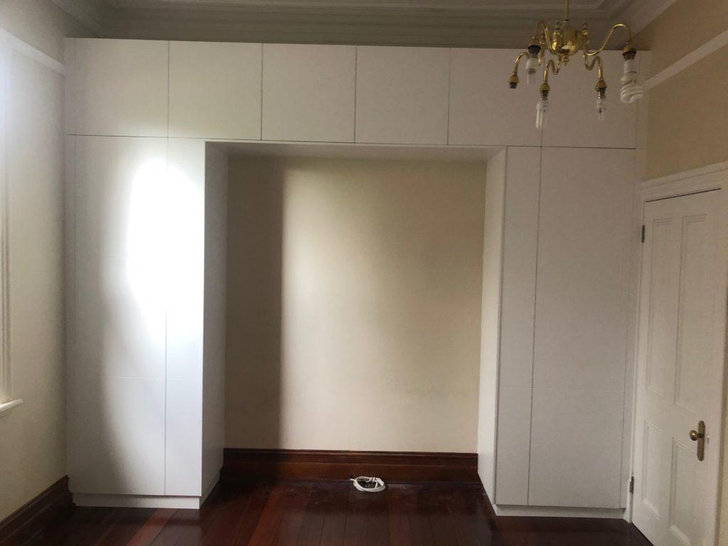 Bedroom overhead storage