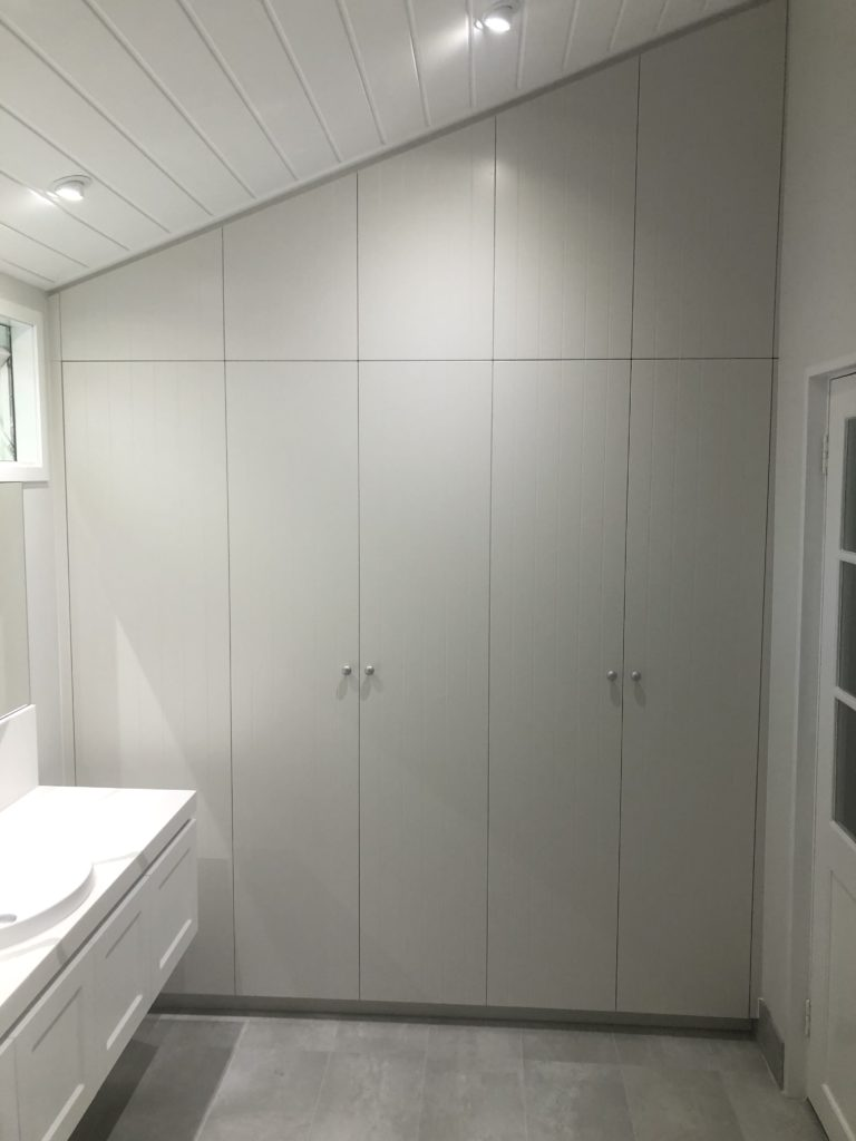 Wardrobe fitted to raked ceiling